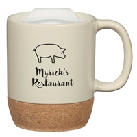14 oz. Personalized Cork Base Mug