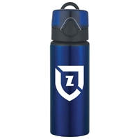 Picture of Custom Printed 25 oz. Aluminum Sports Bottle With Flip Top Lid