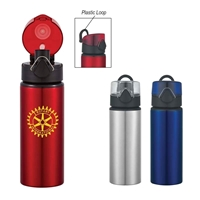 Custom Made 25 oz. Aluminum Bottle With Flip Top Lid
