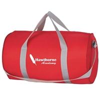 Red Imprinted Duffel Bag