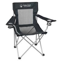 Custom Mesh Folding Chair With Carrying Bag