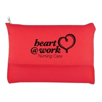 Red Cosmetic vanity bag with logo