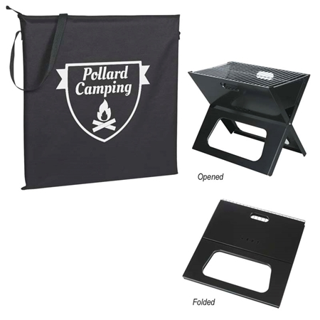 Picture of Custom Printed Collapsible Portable Grill With Carrying Bag