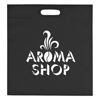 "Custom Large Heat Sealed Non-Woven Exhibition Tote - 15"" W x 16"" H"
