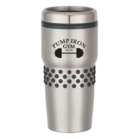 Picture of Custom Printed 16 oz. Stainless Steel Tumbler With Dotted Rubber Grip