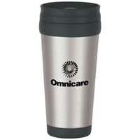 Picture of Custom Printed 16 oz. Stainless Steel Tumbler With Slide Action Lid And Plastic Inner Liner