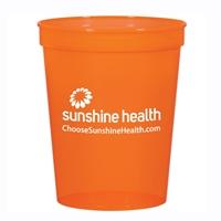 Orange 16 oz. Imprinted Stadium Cup