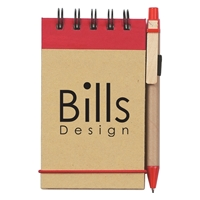 Picture of Custom Printed Eco-Inspired Spiral Jotter & Pen