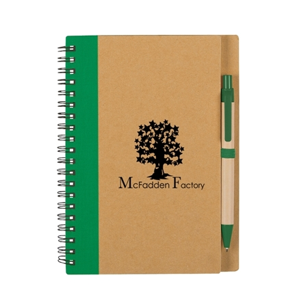 Eco Notebook and pen with logo