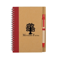 Personalize Eco Notebook and Pen