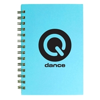 "Picture of Custom Printed 5"" x 7"" Spiral Notebook with Colored Paper"