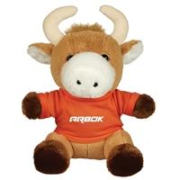 "Picture of Custom Printed 6"" Brave Bull Plush Animal"