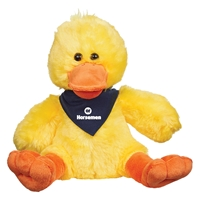 "Picture of Custom Printed 6"" Delightful Duck Plush Animal"