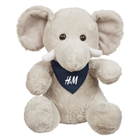 """Picture of Custom Printed 6"""" Excellent Elephant Plush Animal"""