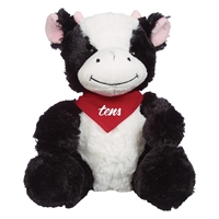 """Picture of Custom Printed 6"""" Cuddly Cow Plush Animal"""