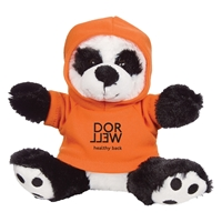 Promotional Big Paw Panda Plush With Orange Hoodie
