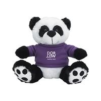 Customized Big Paw Panda Plush With Purple Shirt