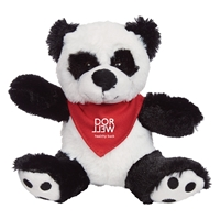 Imprinted Big Paw Panda Plush With Red Bandana