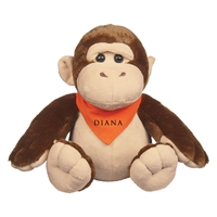 "Picture of Custom Printed 6"" Goofy Gorilla Plush Animal"