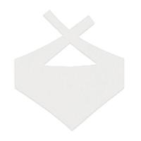 Custom Bear Bandana-White