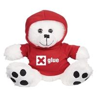Custom Bear Hoodie-Red