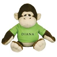 "Picture of Custom Printed 8.5"" Goofy Gorilla Plush Animal"