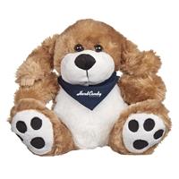 "Picture of Custom Printed 8.5"" Big Paw Dog Plush Animal"