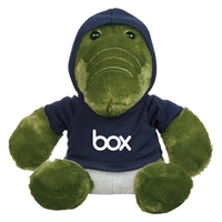 "Picture of Custom Printed 8.5"" Allie Gator Plush Animal"
