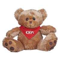 "Picture of Custom Printed 8.5"" Big Paw Bear Plush Animal"