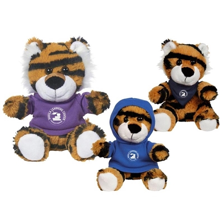 "Picture of Custom Printed 6"" Terrific Tiger Plush Animal"