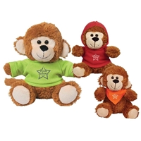 "Picture of Custom Printed 6"" Marvelous Monkey Plush Animal"