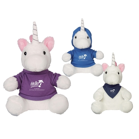 "Picture of Custom Printed 6"" Mystic Unicorn Plush Animal"