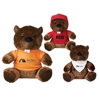 "Picture of Custom Printed 6"" Bucky Beaver Plush Animal"