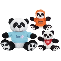 "Promotional 6"" Big Paw Panda Plush Animal"