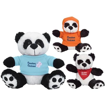 """Promotional 6"""" Big Paw Panda Plush Animal"""