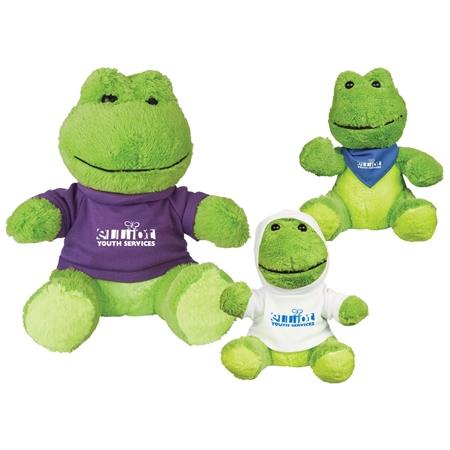 "Picture of Custom Printed 6"" Fantastic Frog Plush Animal"
