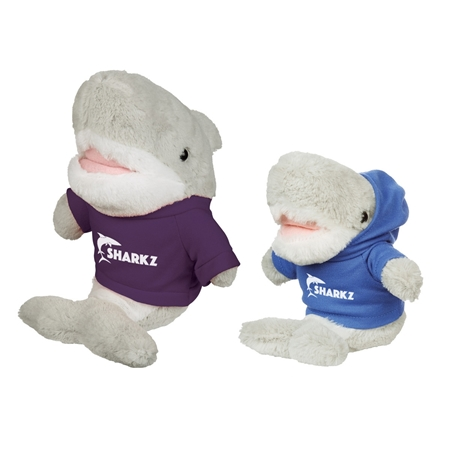 "Picture of Custom Printed 6"" Salty Shark Plush Animal"