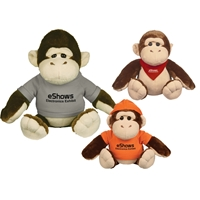 "Picture of Custom Printed 8.5"" Goofy Gorilla Plush Animal"