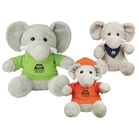 "Picture of Custom Printed 8.5"" Excellent Elephant Plush Animal"