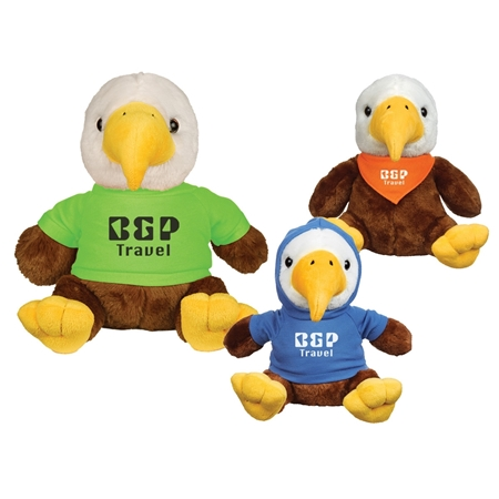 "Picture of Custom Printed 8.5"" Liberty Eagle Plush Animal"