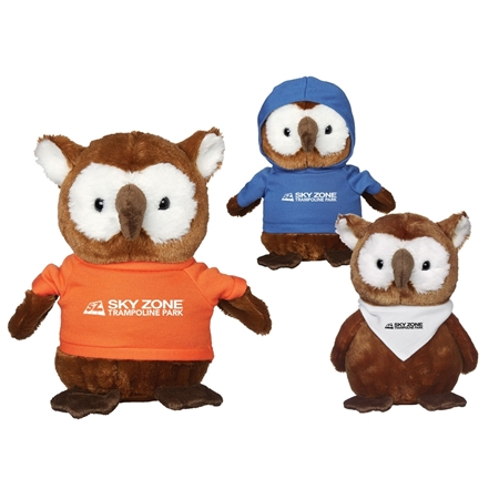 "Picture of Custom Printed 8.5"" Hoot Owl Plush Animal"