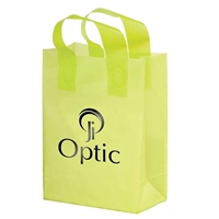 "Picture of Foil Stamped Color Frosted Loop Bag - 10"" W x 13"" H x 5"" D"