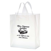 Promotional Flexograph Frosted Loop Bag