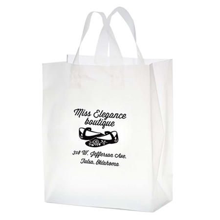 "Picture of Custom Flexograph Frosted Loop Bag - 10"" W x 13"" H x 5"" D"
