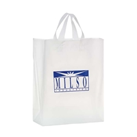"Picture of Custom Foil Stamped Frosted Loop Bag - 13"" W x 16"" H x 5"" D"