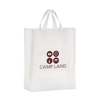 "Promotional Flexograph Frosted Loop Bag - 13"" X 16"" x 5"""