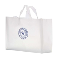 "Promotional Flexograph Frosted Loop Bag - 16"" W x 12"" H x 6"" D"