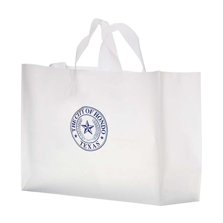 """Picture of Custom Flexograph Frosted Loop Bag - 16"""" W x 12"""" H x 6"""" D"""