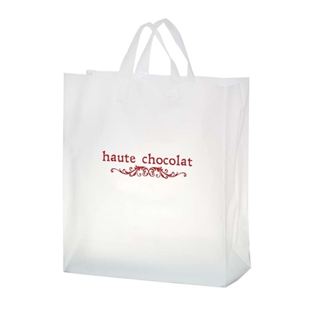 """Promotional Flexograph Frosted Loop Bag - 16"""" X 18"""" X 6"""""""