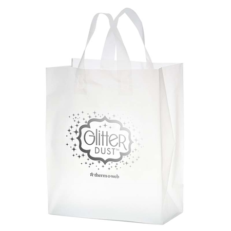 """Picture of Custom Foil Stamped Frosted Loop Bag - 8"""" W x 11"""" H x 4"""" D"""
